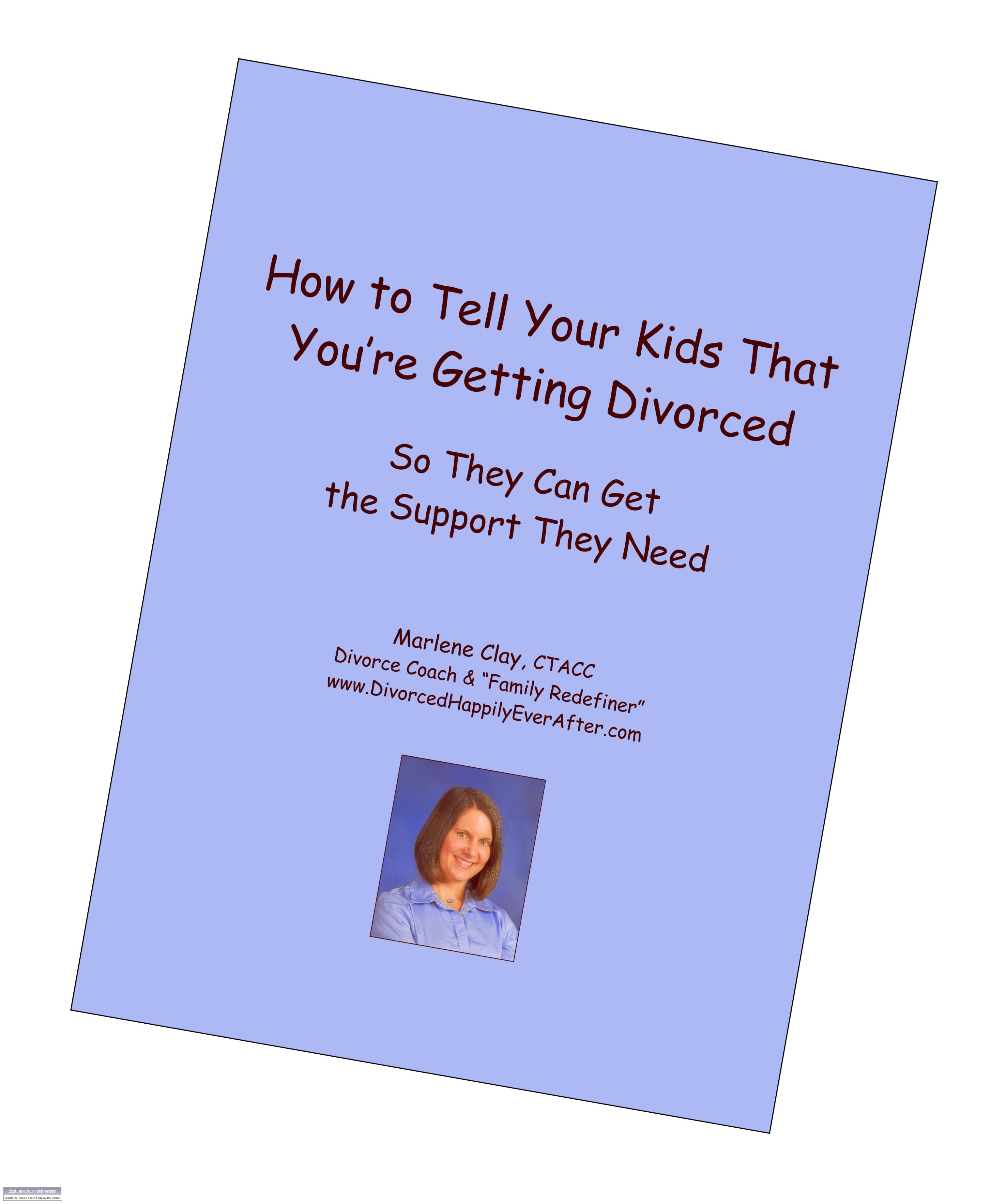 when to tell children you are dating after divorce Dating after divorce: be careful how you tell your kids april 4, 2012 2 comments written by rosalind sedacca we all know divorce creates havoc in any family's life, especially when children are involved.